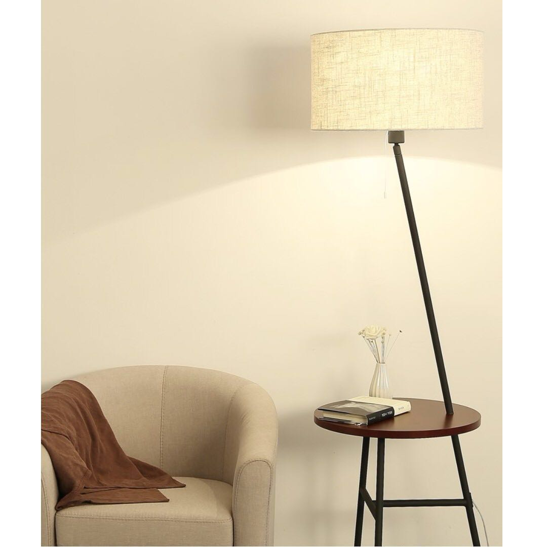 0185 Modern Floor Lamp Cum Side Table Furniture Tables Chairs On