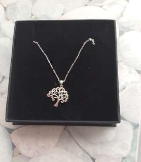 Sterling silver H.Samuel tree necklace