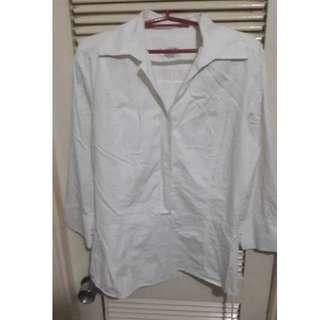 Plain White button down blouse