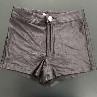 High waisted slinky shorts