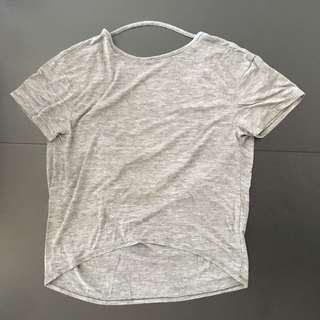 Backless Grey t-shirt