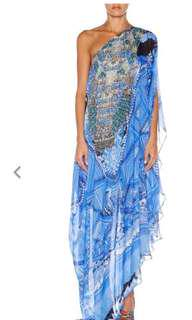 CAMILLA FRANKS 'A World Between The Warp' One Shoulder Drape Dress - Size 2