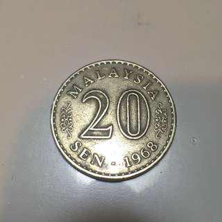 Half of Century Old Coin 1968 - Duit Syiling Lama 1968