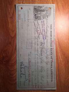 1958年有利銀行發票