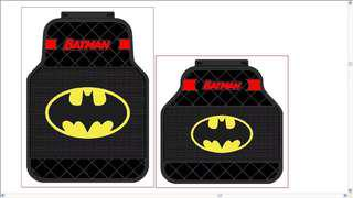 Batman/Superman Car Mat