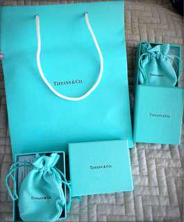 TIFFANY & CO BOXES/BAGS