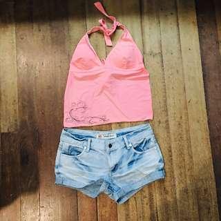 Large Light Pink Sassa Halter Swimwear