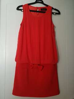Dress orange pink brand MOSCATO cantik all size fit to L