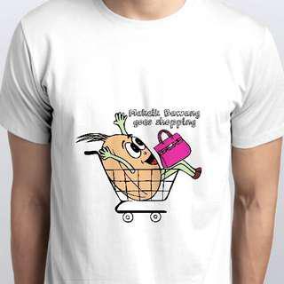Makcik Bawang Goes Shopping Unisex Tshirt