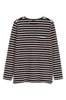 H&M x The Weeknd Striped Long Sleeve Top