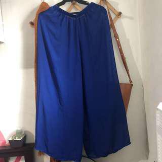 Blue Sheer Wideleg pants