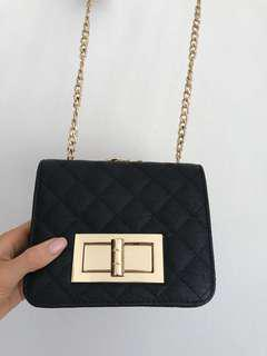 Collette Black and Gold Evening Bag BNWT