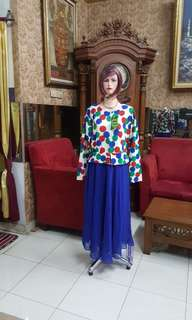 Gamis resleting depan L/ft xl