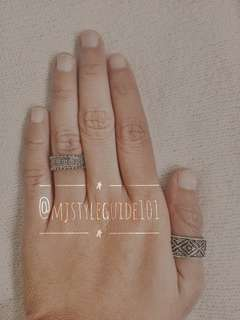 SALE! Thick double Punk Ring set