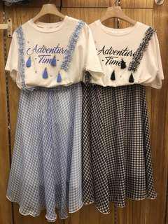 全新正韓兩件式套裝(賣藍色噢)