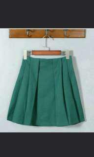 BN Green Skirt Schoolgirl Skater Style