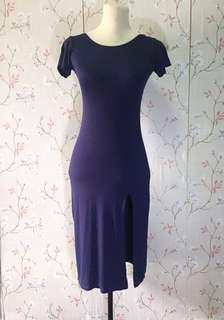 Scoop back fitted dress