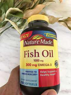 Nature Made Fish Oil 1000mg 250 Softgels
