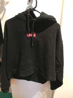 Stussy hoodie black colour