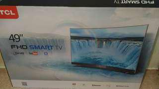 """Tcl 49"""" curved fhd smart tv"""