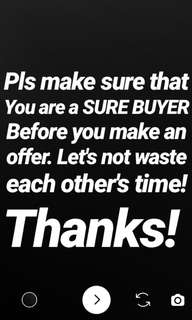 Attention Buyers! Pls. Read!