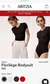 BNWT Aritzia florilège bodysuit