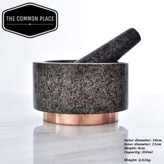 INSTOCK Marble Rose Gold Mortar & Pestle Grinder Pounder Cooking Kitchen Tools