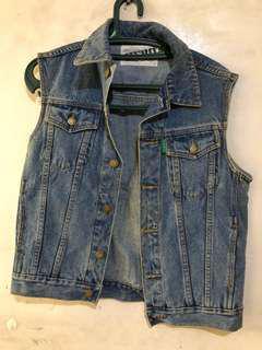 Vintage Denim vest and reflector vest