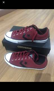Converse Leather star player red chili