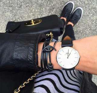[ High Positive Rating ] Black Anchor Multilayer Leathers Bracelets & Bangles Fashion Vintage Bracelet For Men Women Fashion Friendship Gift