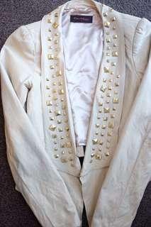 Miss Selfridge Faux Leather Blazer