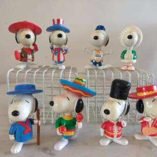 SNOOPY – Mcdonald Snoopy Round The World Collection Toys (1999) Collectable Vintage Toys