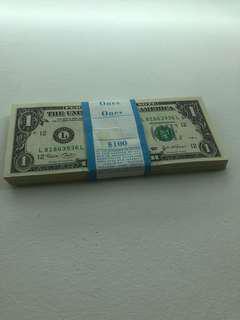 USA $1  x100 Consecutive notes 2003