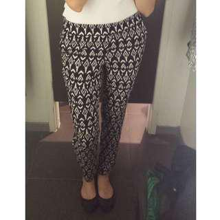 H&M Pattern Pants (EU34/AU6)
