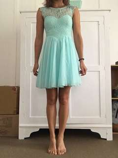 Turquoise Dotti Dress