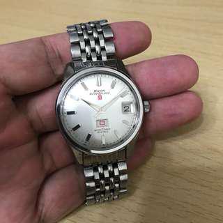 古董麗確 Ricoh Auto Deluxe 紅色8仔自動手錶