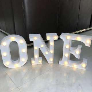 [Sellabrations] RENTAL ONE year old birthday LED light Alphabet Letter Marquee