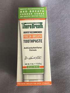 現貨 美國直送 全新 TheraBreath Fresh Breath Toothpaste (113.5g)