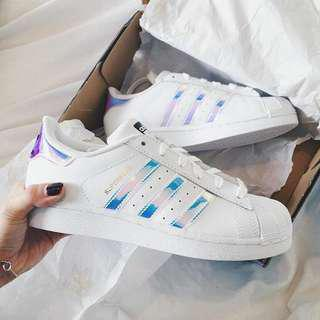 Inspired Adidas Superstar Holographic ❤