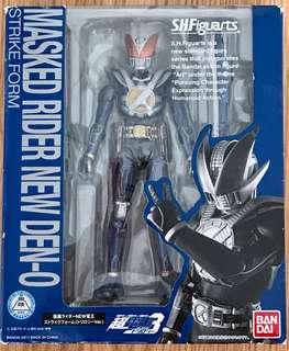 全新未開封 行版 BANDAI SHF Masked Rider  幪面超人 New Den-O Strike Form 新電王 (外盒9成新)