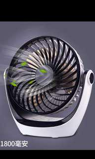 USB豪華款三節調旋轉大風風扇