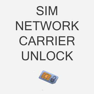 SIM, Network, Carrier Unlock