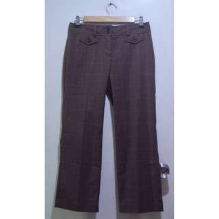 BASS & CO. Plaid Office Pants Slacks Trousers