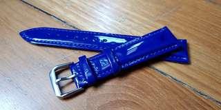 Lightning Blue Patent Leather Watch Strap 20mm