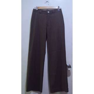 MEXX Stripe Long Office Pants Slacks Trousers
