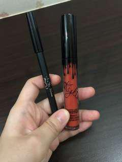 Kylie 22 Lip Gloss and Lipliner