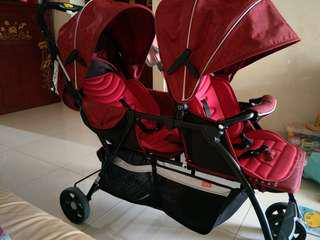 Preloved Double stroller