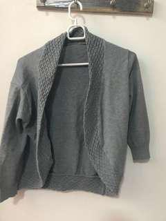 Grey knit outer