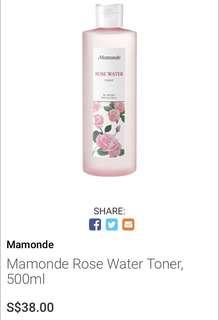 🚚 Mamonde Rose Water Toner 500ml
