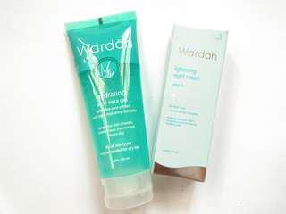Wardah Lightening Night Cream + Hydrating Aloevera Gel
